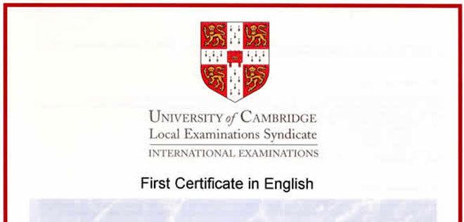 certificado first certificate melilla